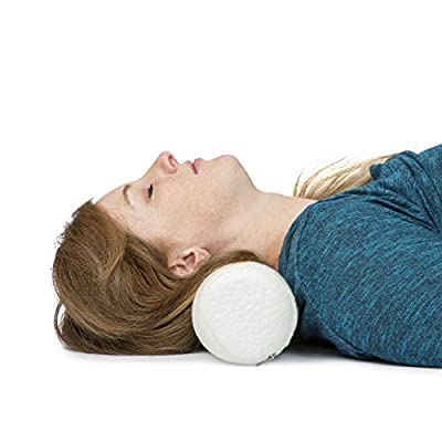 """K Ka Ua Neck Roll Pillow Cervical Bolster with Bamboo Cover – Memory Foam Spine Lumbar Traction Spondylosis Support 4"""" Diameter x 17 """"Length"""