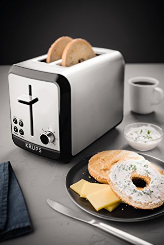 KRUPS Stainless Toaster with Bagel Function