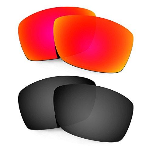 HKUCO Mens Replacement Lenses For Costa Corbina Sunglasses Red/Black Polarized tvn2mVJHd0