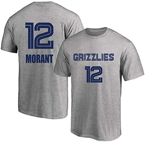 男性と女性バスケットボールジャージベストメンフィスグリズリーズ12#モラントジャージー通気性トップノースリーブTシャツ