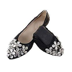 Pointed Toe Rhinestone Wedding Flat Shoes