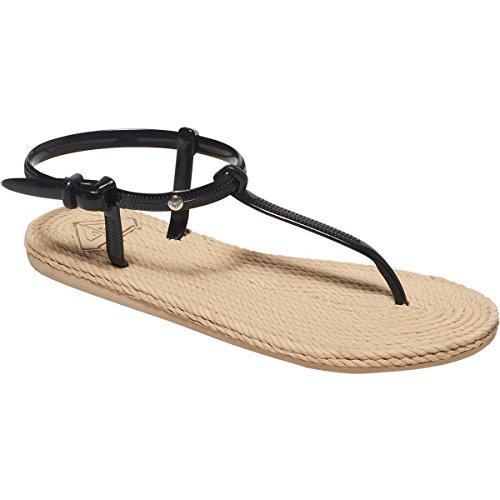 Roxy Women's South Beach T-Strap Flat Sandal, Black, 9 M - Women Beach South