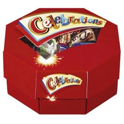 Chocolates Celebration (Celebrations (Twix, Milky Way, Snickers, Mars, Bounty, Dove, Dove Caramel, Maltesers) - 200gr)