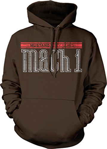 - Ford Mustang Mach 1 Fifty Years V8 5.0 Hotrod Muscle Car Hoodie Sweatshirt Pullover, Brown, X-Large
