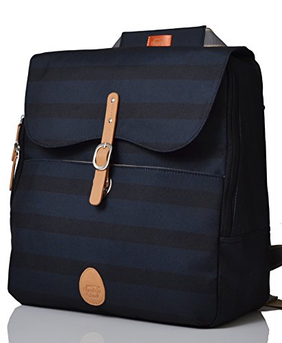 - PacaPod Hastings Ink Stripe Lite Designer Baby Diaper Bag - Luxury Lightweight Blue Knapsack 3 in 1 Organising System With Convertible BackPack Straps