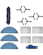 GYing - För HONITURE Q5 tillbehör Reservdelar för vakuumrobot 1 x huvudborste, 4 x HEPA-filter , 6 x sidoborste, 3 x moppduk