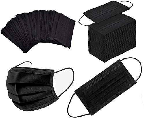 100PIECES Disposable face Mack Black 3-ply Macks
