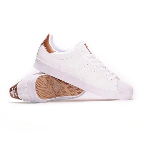 timeless design 676cc a7679 Galleon - Adidas Mens Superstar Vulc Adv Ftwwhtcoppmtftwwht Skate Shoes  (9.5)