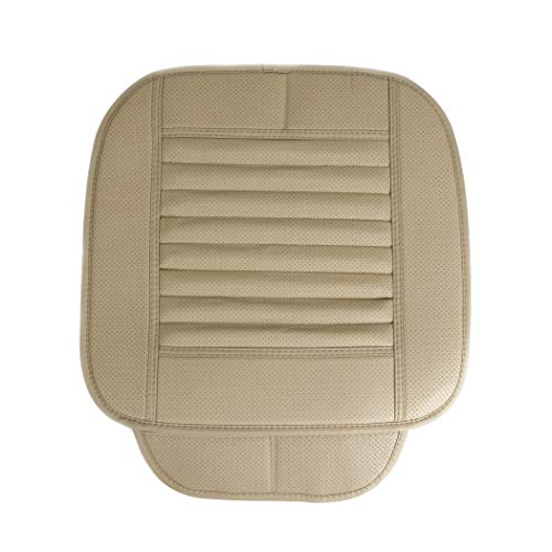 UNHO Car Seat Cushion Pad Car Front Seat Cushion Cover Pad Mat for Auto Car Driver Office Chair(1 Pieces- Beige)