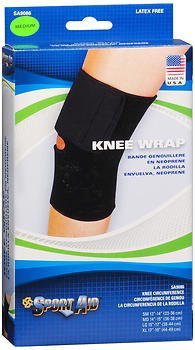 Sport Aid Knee Wrap Black MD - 1 Each, Pack of 6 by SportAid