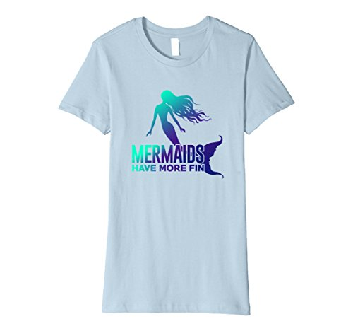 Women's Mermaids have more Fin XL Baby Blue