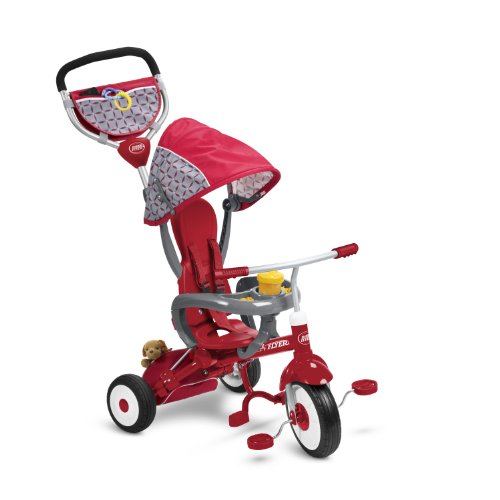 Radio Flyer EZ Fold Stroll 'N Trike Ride On, Red