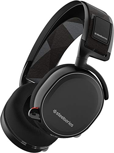 SteelSeries Arctis 7 Lag-Free Wireless Gaming Headset with DTS Headphone:X 7.1 Surround for PC, Playstation 4, VR, Mac and Wired for Nintendo Switch, Android and iOS – Black