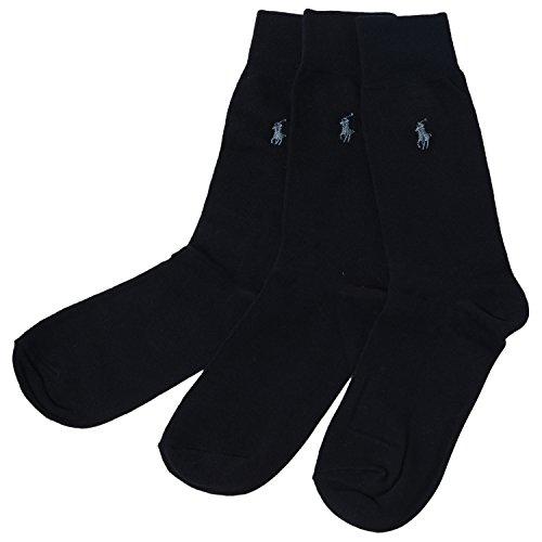 (Polo Ralph Lauren 3-Pack Dress Socks (One Size, Navy))
