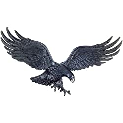 Whitehall Products Decorative Wall Eagle, 36-Inch, Black