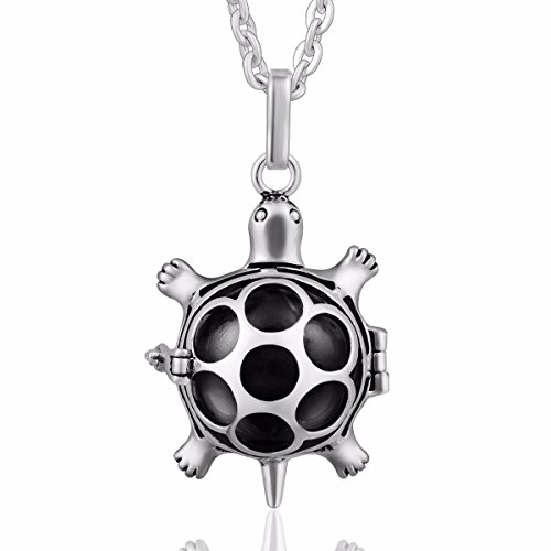 [Eudora Harmony Bola Lucky Turtle Angel Caller Pendant 16mm Pregnancy Women 30 Inches Necklace] (Angel Locket)
