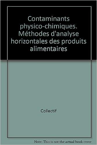 Contaminants physico-chimiques. Méthodes d'analyse horizontales des produits alimentaires