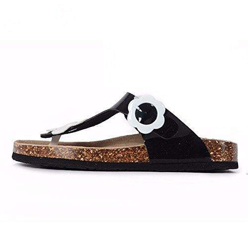 Señoras Exterior Moda Frescas Flores YMFIE Zapatillas Cubierta Cómodo Zapatos white gqdCxwH
