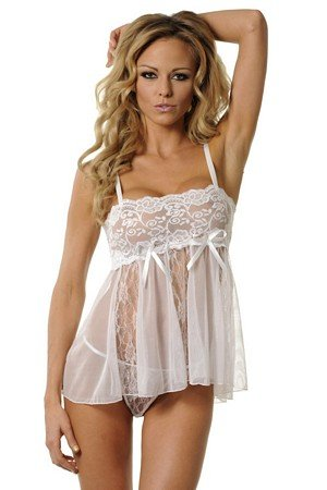 Amazon.com  Velvet Kitten Sensual Sexy Lace Babydoll  3214 (One Size ... 7a2e83c40
