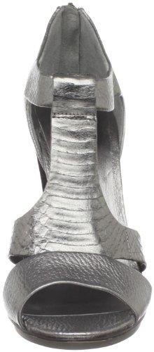 BCBG Max Azria Nowells Femmes Argenté Cuir Chaussures Sandales EU 40,5