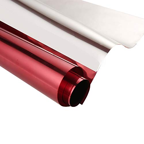 SW Window Privacy Film One Way Mirror Film Heat Control Anti UV Adhesive Reflective Residential Window Tint for Home and Office, 17.7