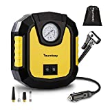 Air Compressor Tsumbay Tire Inflator 12V 150 PSI LED Lights Air Pump, Suitable for Car, Bikes, RV, Sport Balls and Other Inflatables with Bags