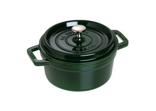 Green Cocotte - Staub Basil Round Cocotte, 7 qt., Basil Green by Staub
