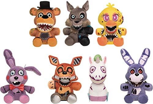 (Funko Five Nights at Freddy's Twisted Ones Collectible Plush Figures, 8-inch (Set of 7))