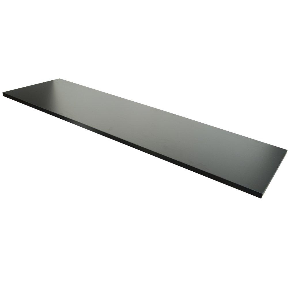 Econoco Commercial Melamine Shelf, 14'' x 48'', Black (Pack of 4)