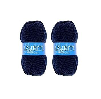 8e4406286dcc Lot 2 Pelotes de laine Azurite 100% Acrylique Tricot Crochet Tricoter - Bleu  - 3090