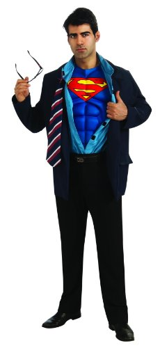 Superman Returns Clark Kent/Superman Costume, Standard, (Superman Clark Kent Costume)