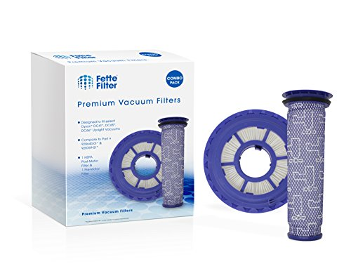 Fette Filter - Vacuum Filters Compatible with Dyson DC41, DC65, DC66 HEPA Post Filter & Pre Filter. For Animal, Multi Floor and Ball Vacuums. Compare to Part # 920769-01 & 920640-01 (Combo Pack)