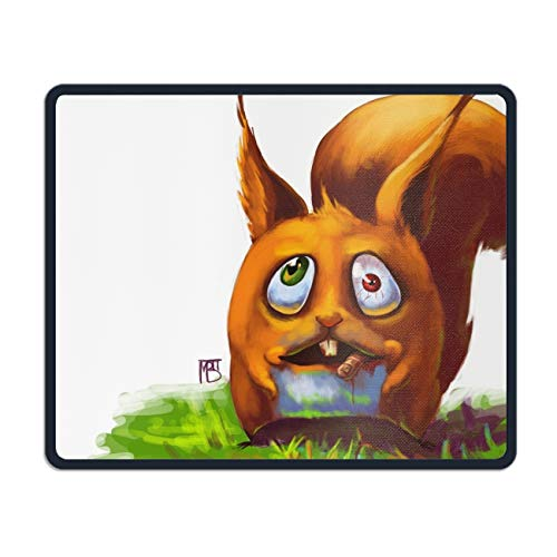 Scary Halloween Squirrel Mouse pad Gaming Mouse pad Mousepad Nonslip Rubber Backing Mousepads Mat