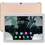 KuBi Newest 10 Inch Andriod Tablet, WiFi Tablet with IPS 1920x1200 Touch Screen, 24GB RAM 64GB ROM, Bluetooth and 5.0+12.0MP Dual Camera-Gold
