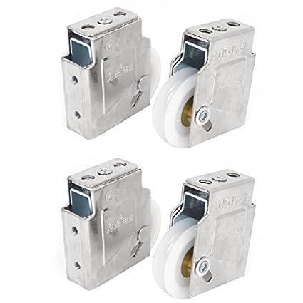 4pcs 43mm Dia Blanco Solo rodillos para puerta ventana de guillotina rodillo Polea - - Amazon.com