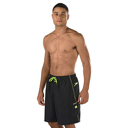 Speedo Men's Marina Volley 2.0, Black/Green, Large