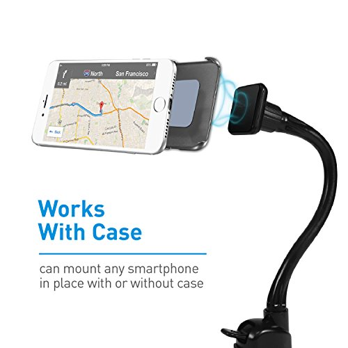 Macally Magnetic Windshield Car Phone Mount Holder with 12'' Long Arm & Super Strong Magnet for iPhone X 8 8 Plus 7 Plus 6s Plus 6 SE Samsung Galaxy S9 S9 Plus S8 Plus S8 Edge S7 S6 Note (MGRIPMAGXL) by Macally (Image #2)