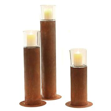 Stimmungsvolles Garten Windlicht Garten Fackel Kerzen Ständer Metall