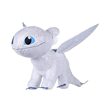 DreamWork How to Train Your Dragon 3 Light Fury Soft Toy Dark Features-32cm, Glow: Toys & Games
