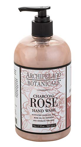 Archipelago Charcoal Rose Hand Wash, 17 Fl Oz