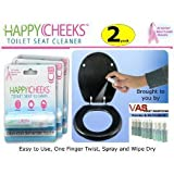 Health & Personal Care : Two (2) Happy Cheeks Toilet Seat Cleaner Spray - No More Fear for your Rear
