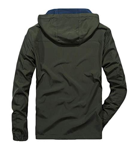 Coat Hooded And Autumn Jacket Men Blue Warm On Green Jacket Wear Winter Windproof Sides Both qSZnPEBxdn