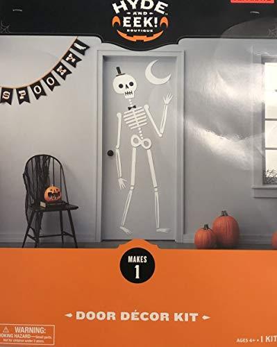 Halloween Door Hanging Crafts (Halloween Skeleton Door Decorating Kit by Hyde and Eek! DIY Wall Hanging Scene Setter Door Decorations - Fun Craft and Activity for Kids - Home, School and)