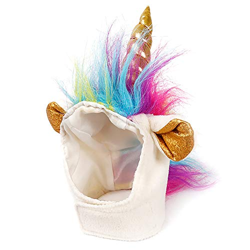 DierCosy Cat Unicorn Hat Unicorn Costume for Small Dog Cat Puppy Novel Funny Adjustabale Cosplay Mane Hat Headgear for Halloween Festival Birthday Theme Party Photo Props Halloween Toys]()