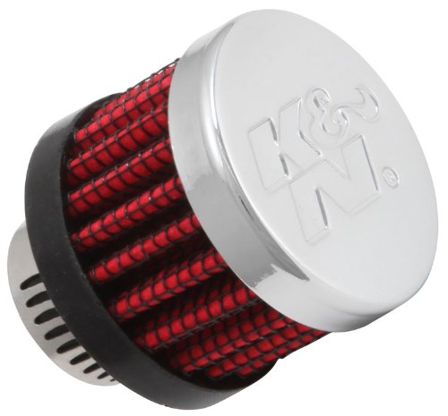 K&N 62-2480 Vent Air Filter / Breather: Vent Air Filter/ Breather; 0.55 in (14 mm) Flange ID; 1.125 in (29 mm) Height; 1.375 in (35 mm) Base; 1.375 in (35 mm) Top