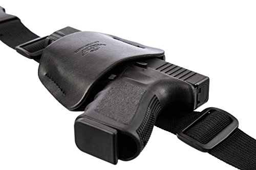40 Column (Car Holster Gun Mount for Truck Steering Column by CCW Tactical - Universal Concealed Weapon or Flashlight Holder - Easy Install Bedside, Under Desk, Office - Fits Most Handguns and Small Revolvers)