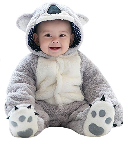 Halloween Baby's Koala Costume, Toddler's Animal Cosplay Layette Set,Infant Jumpsuit -