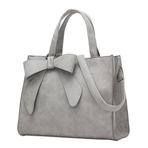 GSHGA Nuevo Bolso Elegante Messenger Bag De Hombro Simple Con Estilo,Pink Gray