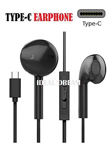 IDEAL DREAM USB 3.1 Tipo C En Oreja Mp3 Música Auriculares Auricular con Micrófono Traje para