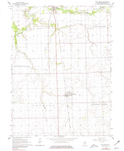 - Wellington IL topo map, 1:24000 Scale, 7.5 X 7.5 Minute, Historical, 1964, Updated 1981, 26.7 x 22 in - Paper